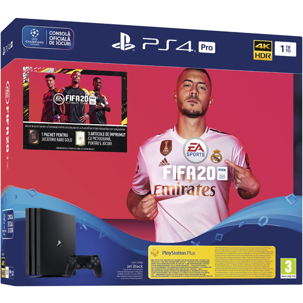 PlayStation 4 Pro + Game FIFA 2020